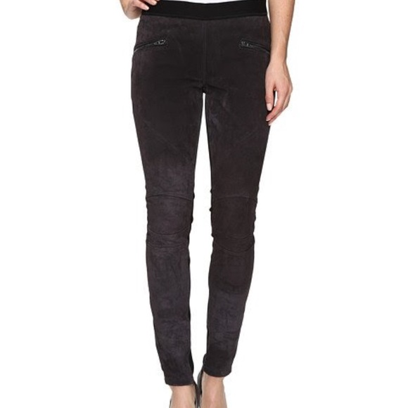 f8663487b218d4 Blank NYC Pants | Blanknyc Suede Pull On Zippered Leather Leggings ...